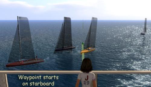 Waypoint starts starboard