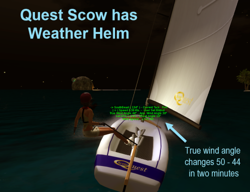 Q-Scow weather helm