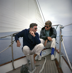 JFK and Peter Lawford