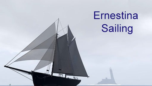 Ernestina sailing