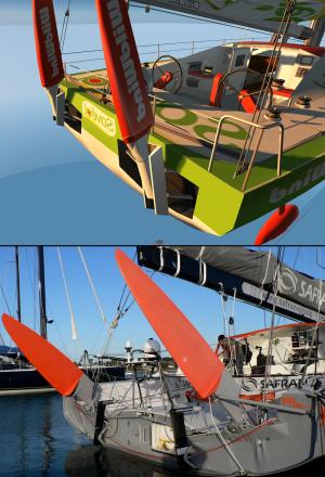 dual rudders