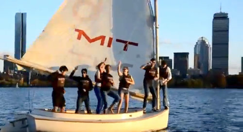 gaff-rigged catboat