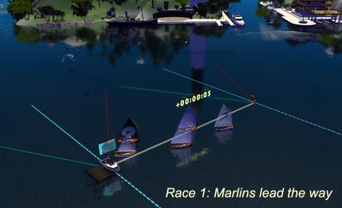 Blue Marlins lead R1