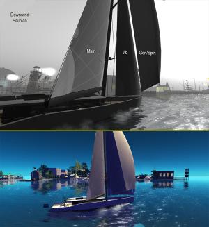 CM75 downwind sailplan